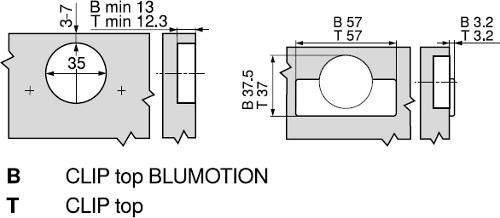 BLUM CLIP TOP +30° II°