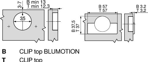 BLUM CLIP TOP +45° III